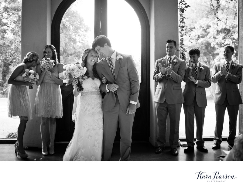 Wedding Ceremony At Barr Mansion In Austin Texas