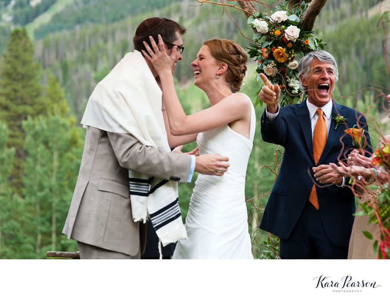 Jewish Wedding Ceremony At Beano's Cabin In Beaver Creek