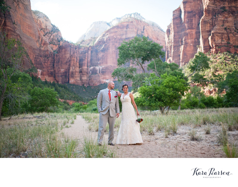 Zion National Park Wedding Portraits Photography