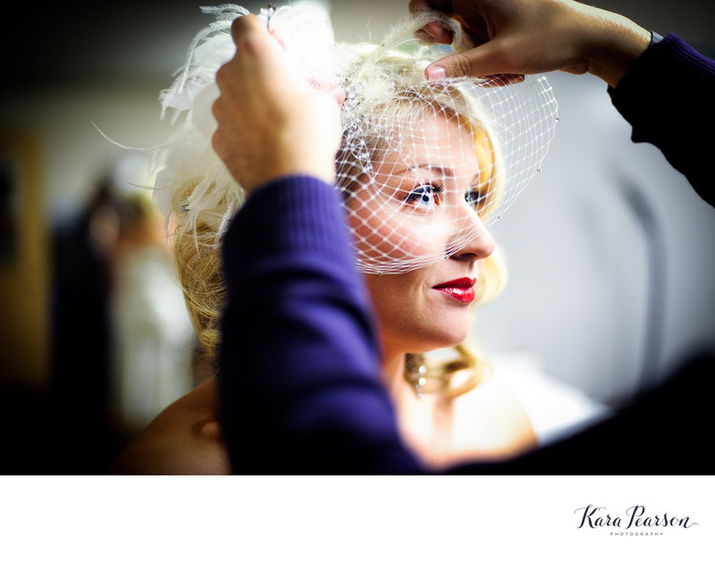 Denver Bride With Birdcage Veil
