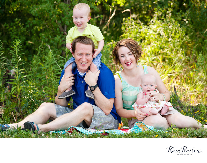Chicago Family Portraits In Nature Preserve