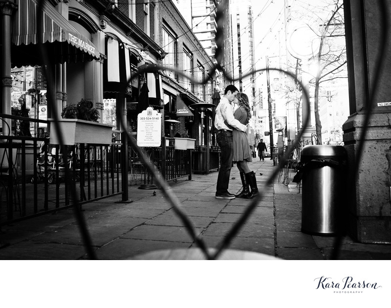 Larimer Street Kissing Couple