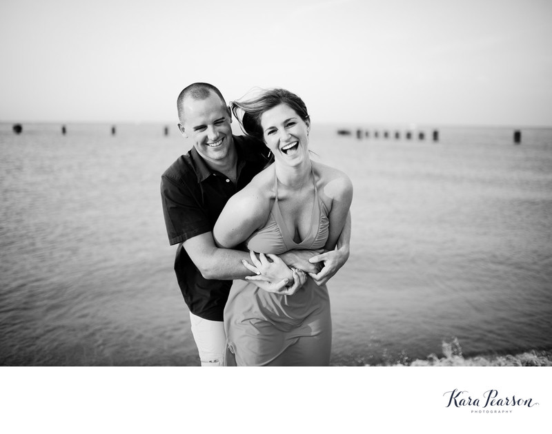 Lake Michigan Engagement Portraits In Chicago