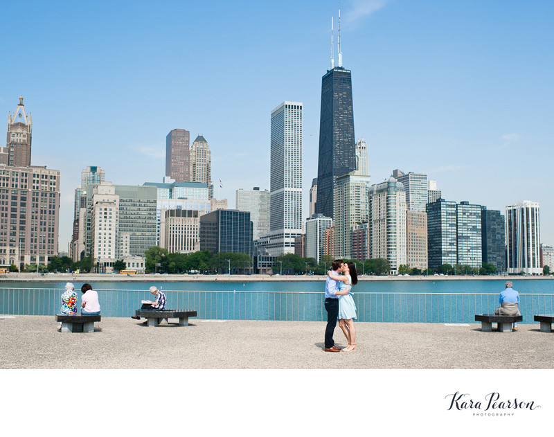 Chicago Skyline Engagement Portraits