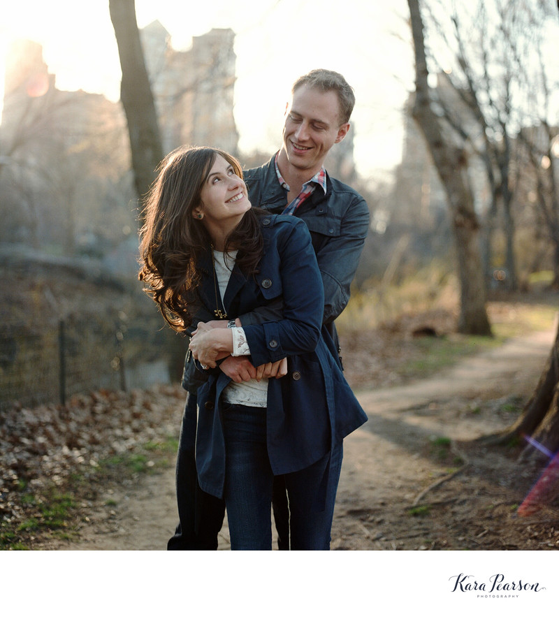 Central Park Engagement Session On Film