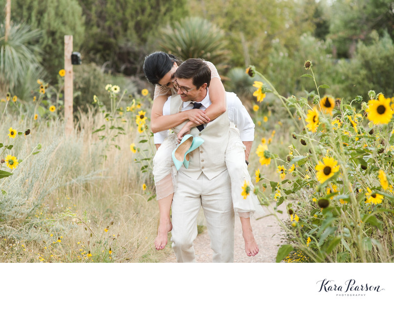 Natural Wedding Portraits Denver Botanic Gardens