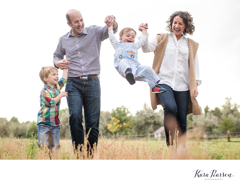 Fun Natural Cherry Hills Family Portraits