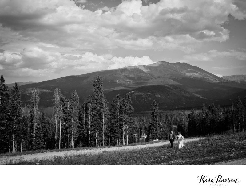 Wedding Portraits Atop Breckenridge Mountain