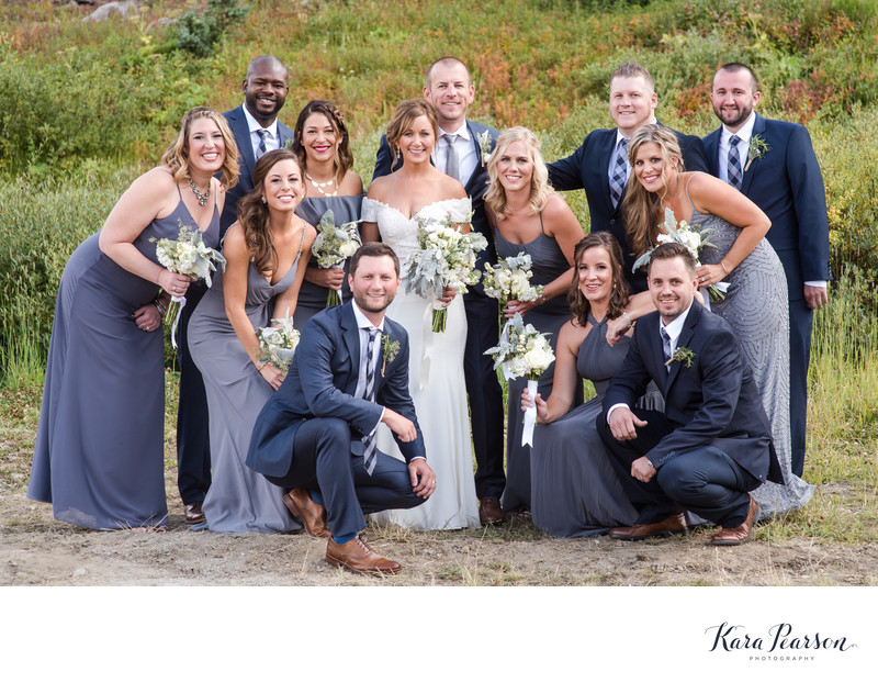 Wedding Party Portrait In Breckenridge