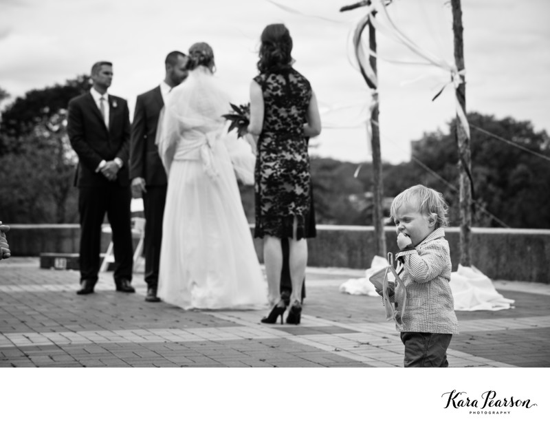 Funny Child During Wedding Ceremony