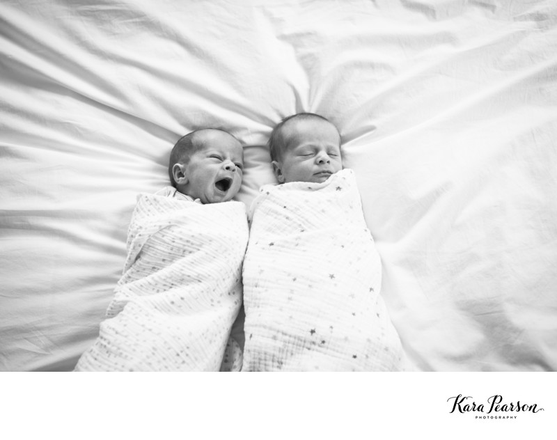 Twin Newborn Portraits At Home In Denver