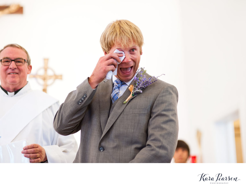 Groom Crying During Salida Wedding Ceremony