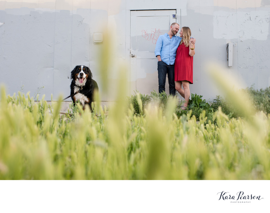 RiNo Engagement Portraits With Dog