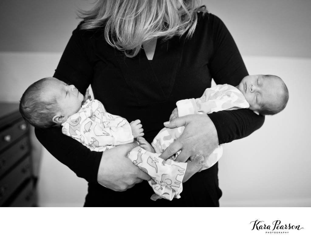 Newborn Twin Portrait Session In Denver