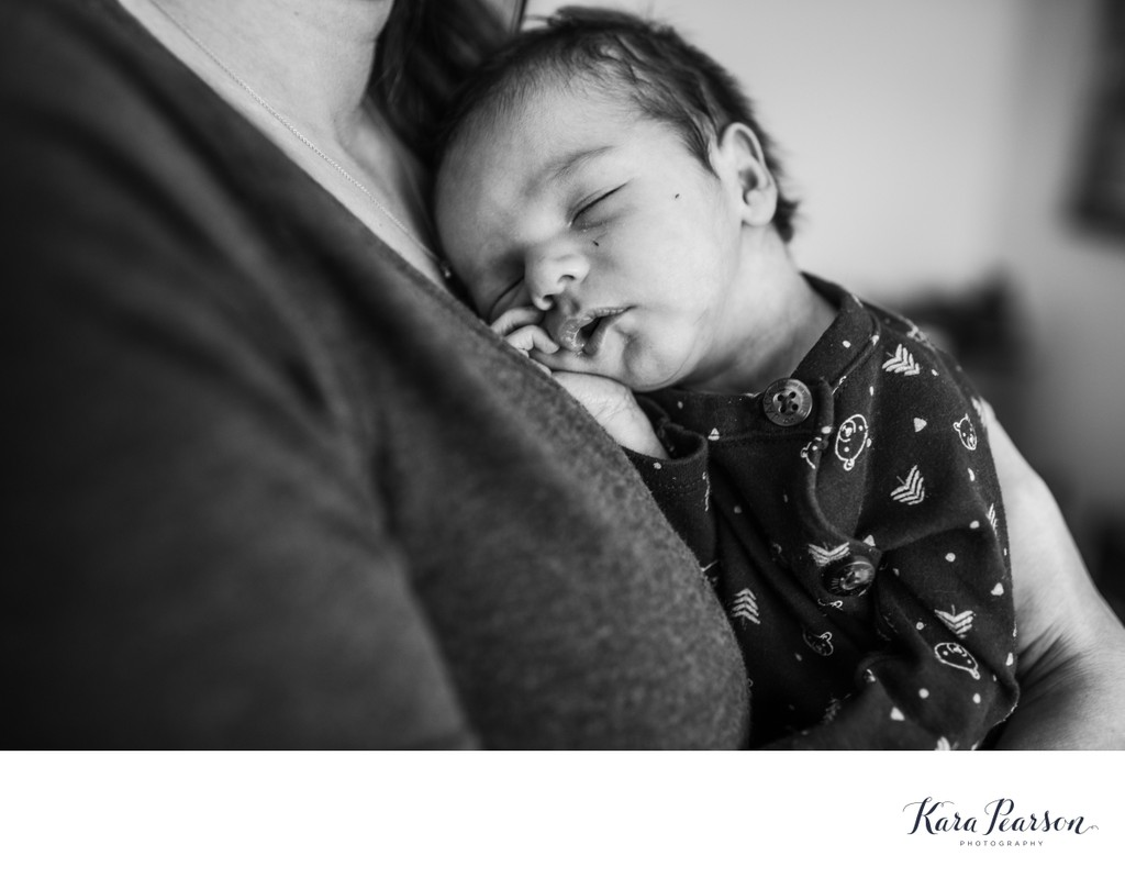 Newborn Portrait With His Mom