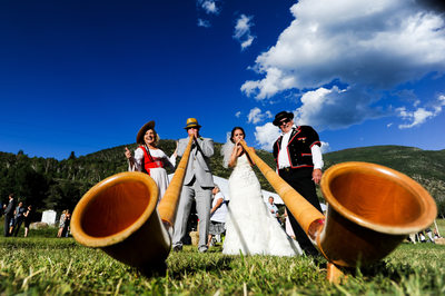 Swiss Wedding In Colorado With Alpenhorns
