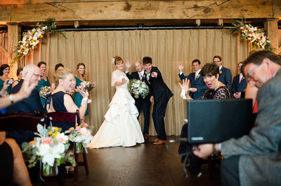 Wedding Ceremony At The Broad Axe Barn