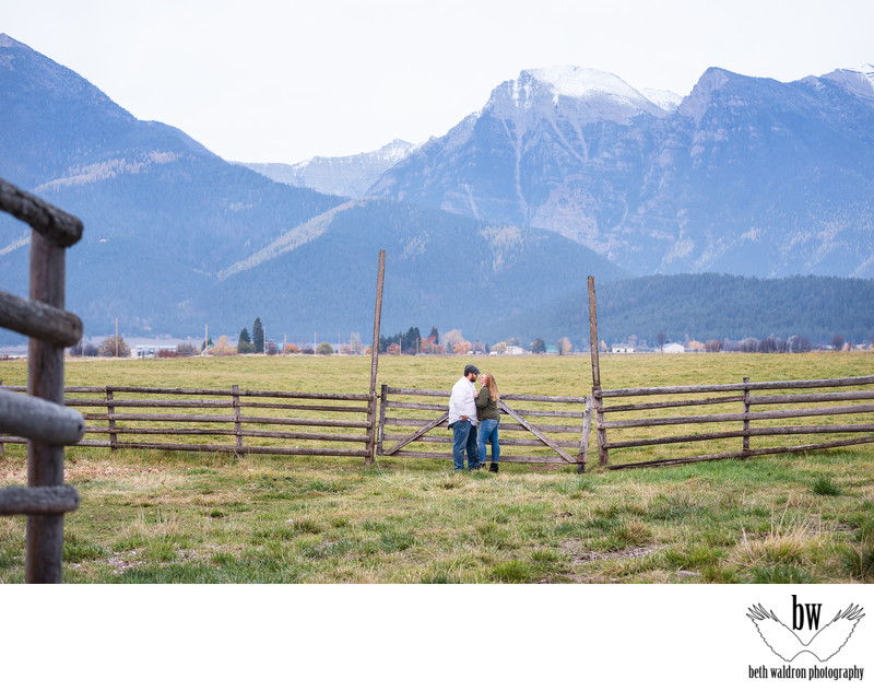 Mountain barn engagement session
