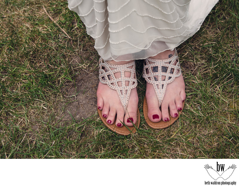 Albuquerque wedding photographer bride sandals
