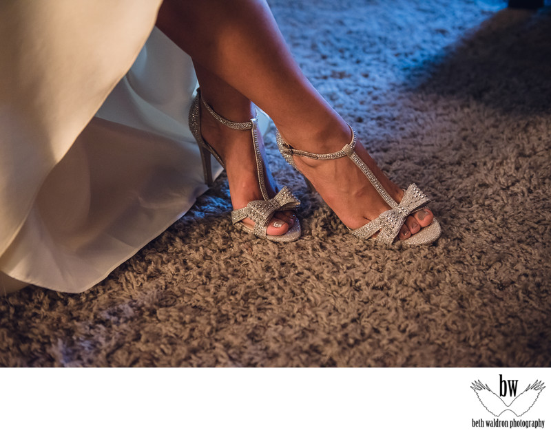 Glam shoe shot albuquerque wedding photographer