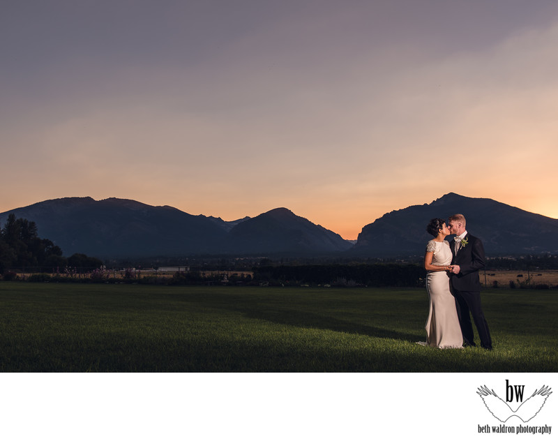 Mountain sunset wedding photos in New Mexico
