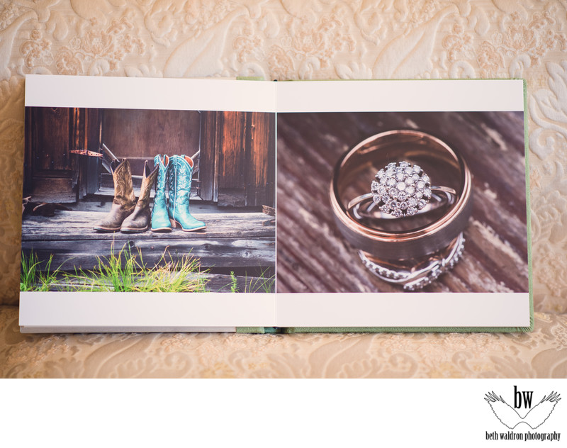 Albuquerque wedding photographer wedding book