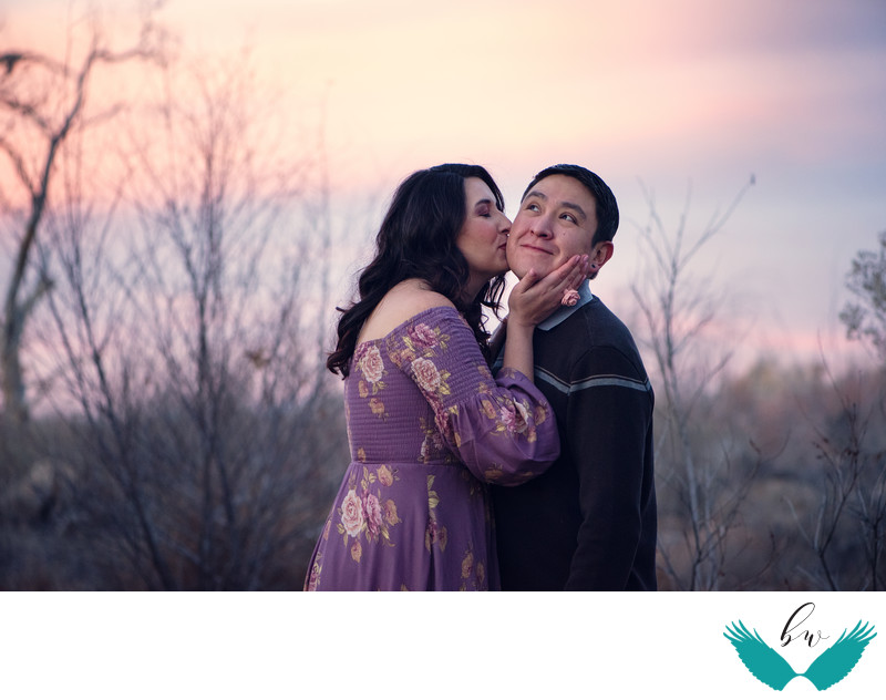 How cute are they engagement session in the bosque Corrales, New Mexico