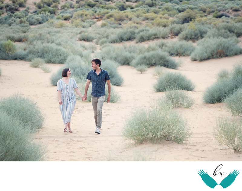 Albuquerque Wedding Photographer sand dune engagement