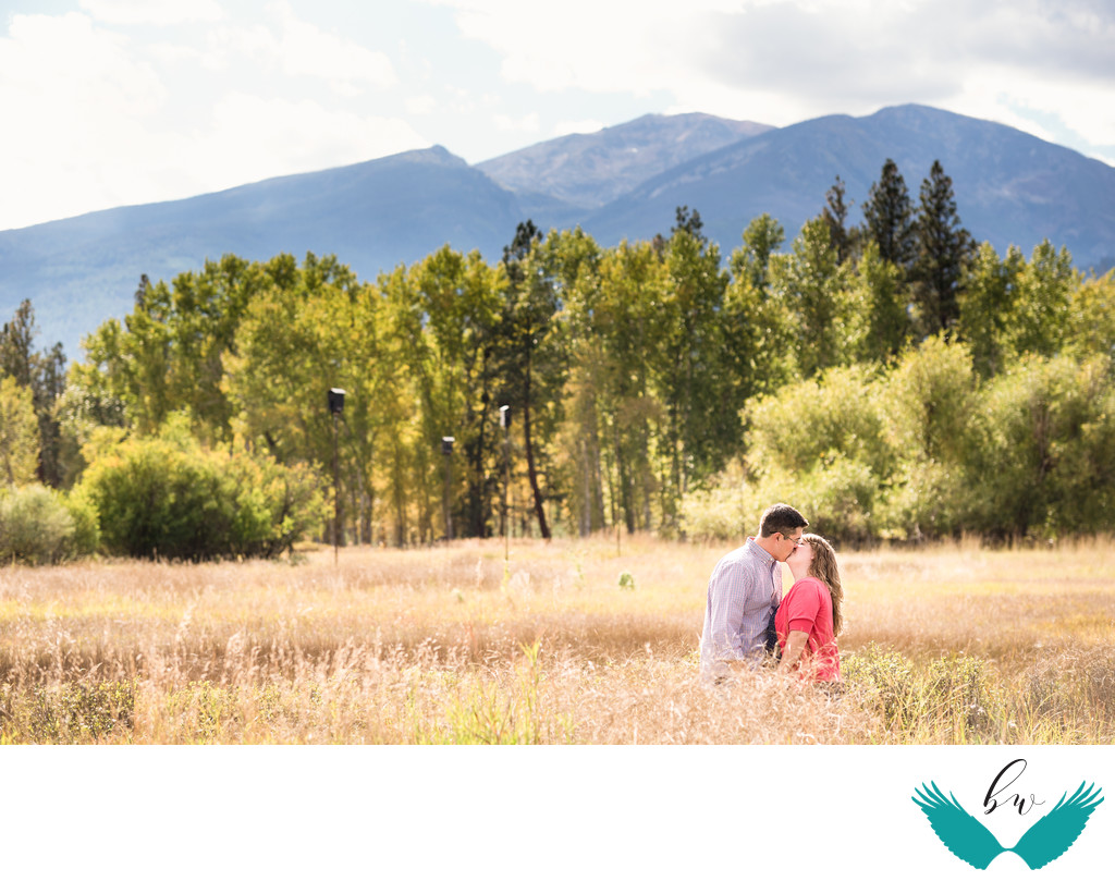 Mountain field engagement session