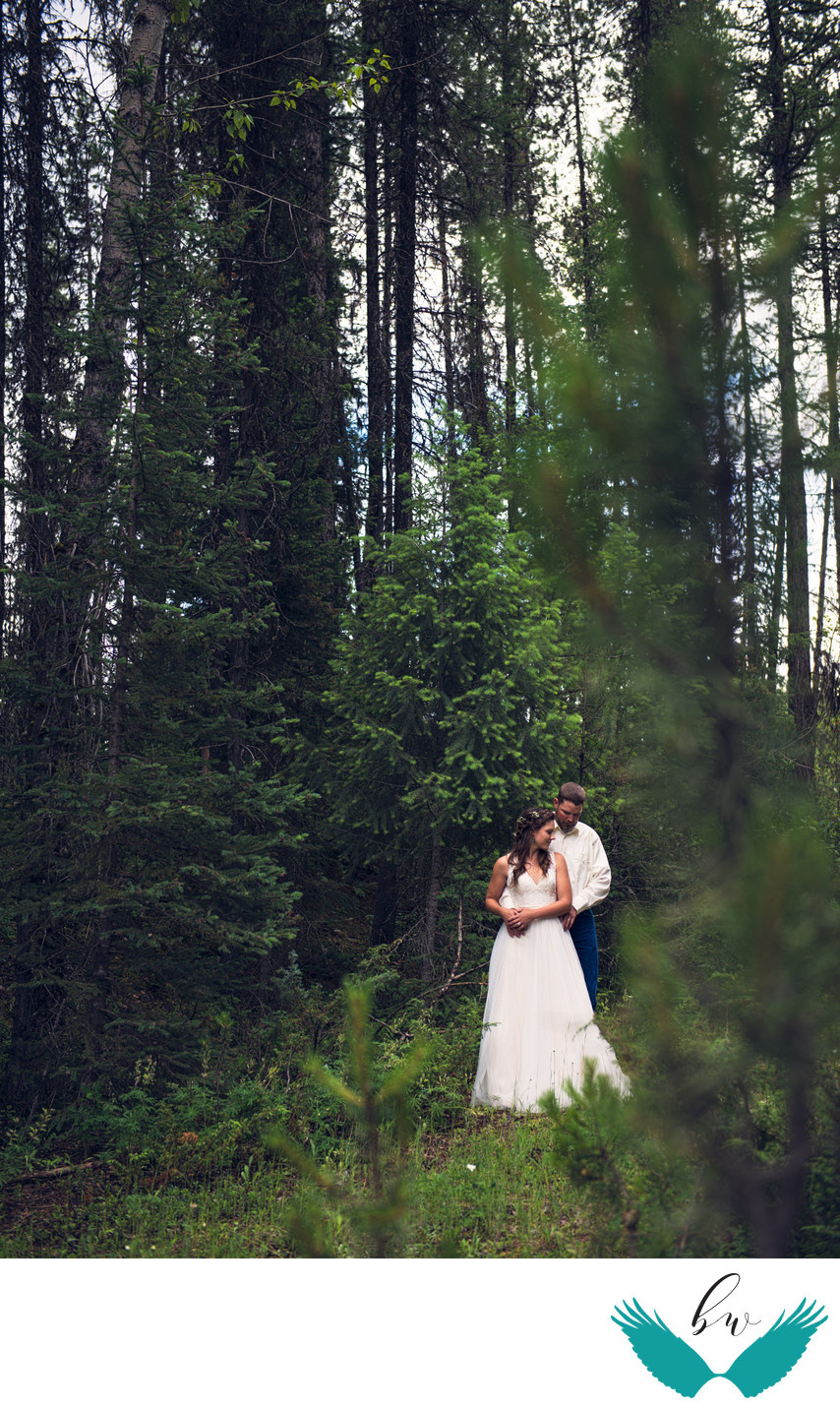 Woods bride and groom portrait nm wedding photographer