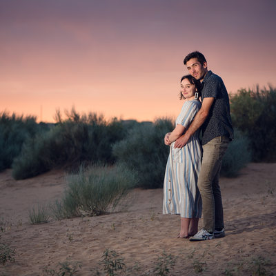 Albuquerque wedding photographer - Corrales Sand dunes