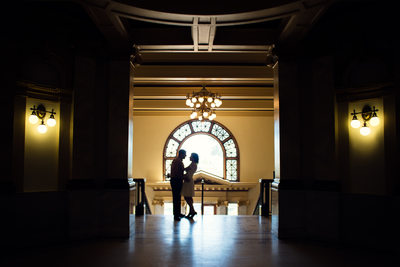 Courthouse wedding photo