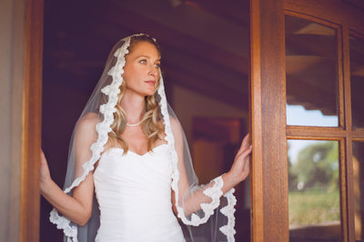 Bride at Casa Rondena Winery wedding