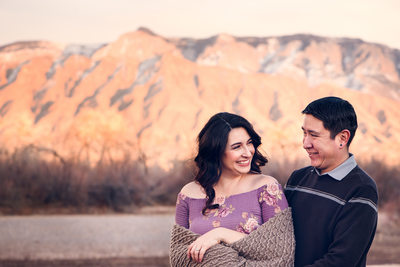 Corrales bosque engagement session