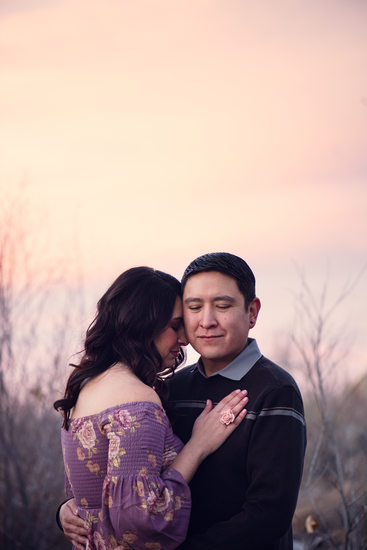Quiet engagement session in the bosque Corrales, New Mexico