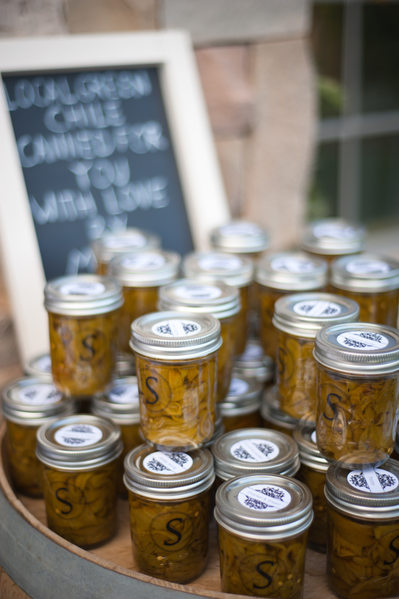 Green Chile wedding favors