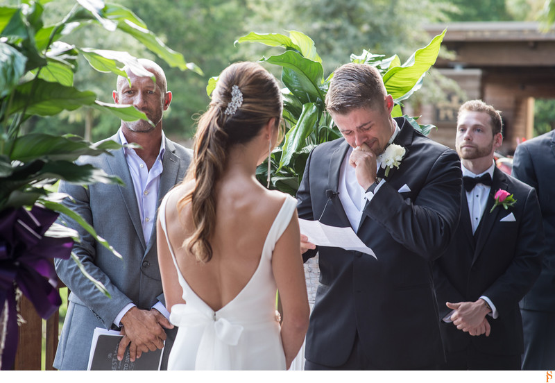 GROOM CRYING DURING THE CEREMONY AT SAWGRASS MARRIOTT