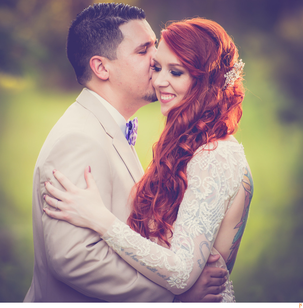 Gorgeous bride with red hair