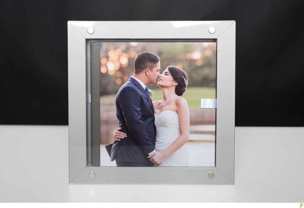 BEAUTIFUL LEATHER WEDDING ALBUM OF A WEDDING AT SAWGRASS