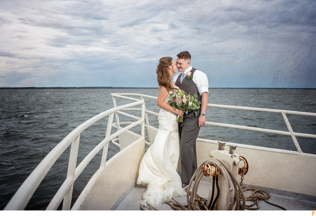 They got married on a boat