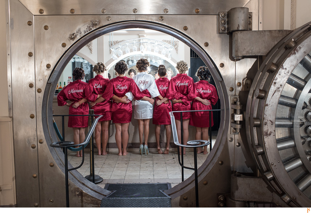 Bridesmaids with ropes in the vault, Treasury on the Plaza