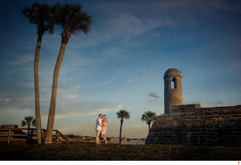 We love the Fort in St Augustine for engagement photographs