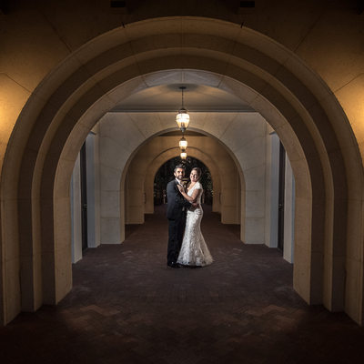 Wedding photos at night at cross water hall at nocatee