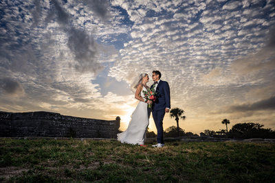 St Augustine wedding by the Castillo de San Marcos