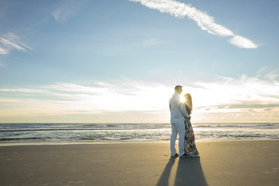 Sunrise at Jacksonville Beach for engagement photos with our couples.