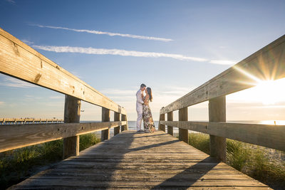 We love Jacksonville Beach for engagement photos with our couples