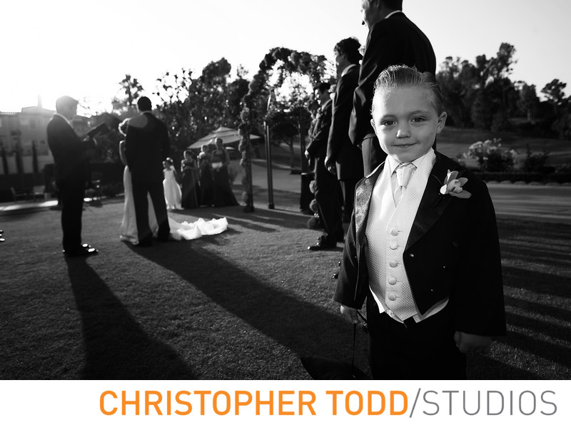 Marbella Country Club Portrait of Ring Bearer