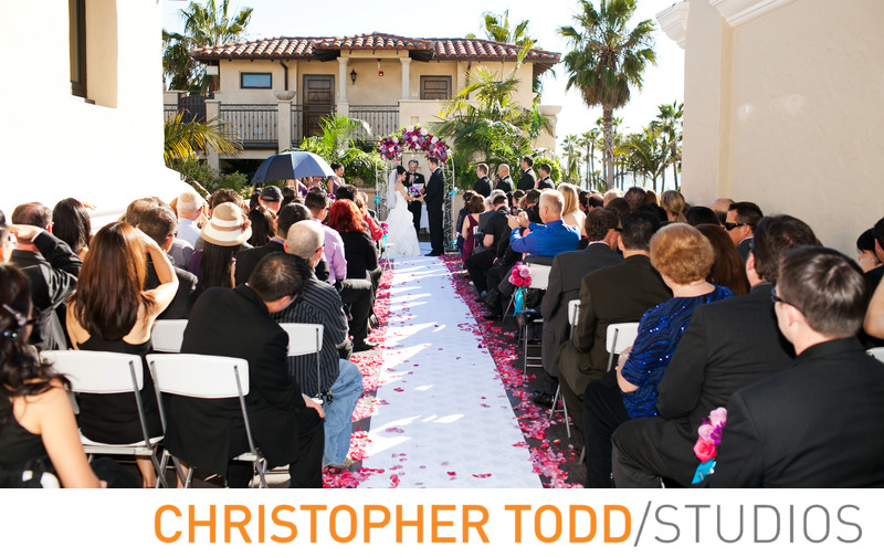 Balboa Inn Outdoor Wedding Ceremony