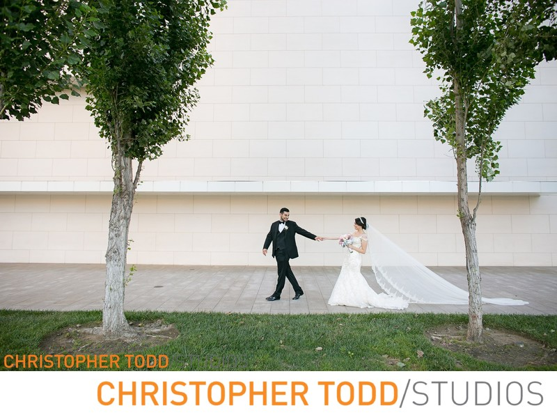 Segerstrom Center for the Arts Bride and Groom