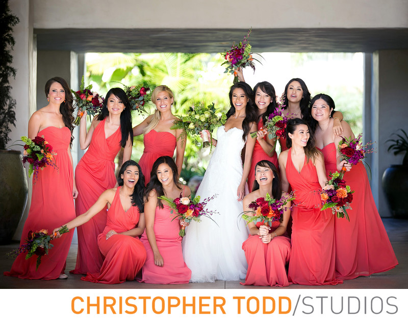 Bridal Party at Hyatt Huntington Beach Photographer